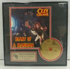 Ozzy Osbourne Diary of a Madman 24 KT Gold Prototype CD Limited Edition RARE