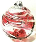 Large Hand Blown Art Glass Ornament Friendship Ball Hanging Sphere Sun Catcher