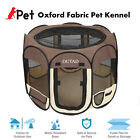 OUTAD Foldable 45 Pet Dog Kennel Fence Puppy Playpen Exercise Pen Folding mw