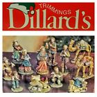 VINTAGE CHRISTMAS NATIVITY FIGURINE COLLECTION DILLARDS TRIMMING RESIN