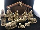 Vintage Hand Painted Made In Japan 13 Piece Nativity