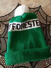 Team Canada Winter Foresters Games White/Green Beanie Stocking Cap Vintage 1989