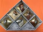 Glass Nativity 6 piece Christmas Ornament Boxed Set Gold New by Roman Inc