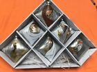 Glass Nativity 6 piece Christmas Ornament Boxed Set Silver New by Roman Inc