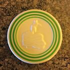 Fiesta HLCCA Retro Green Stripe Trivet Ivory with Green Stripes Rare