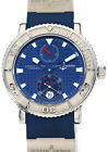 Ulysse Nardin Mens Blue Max Stainless Steel Mens Watch Box/Papers 263-58