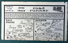 JOHAN VINTAGE ORIGINAL PLYMOUTH OVAL TRACK RACER INSTRUCTION SHEET