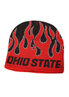 Ohio State Adult Unisex Red/Black Flame Beanie, One Size