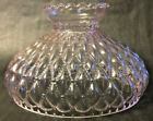 New 10 Pink Crystal Glass Diamond Quilted Student Lamp Shade Crimp Top SH408