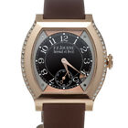 F. P. Journe Elegante 40mm Rose Gold Diamond Quartz Watch Brown Rubber ELT