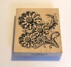 Outlines Rubber Stamp Flowers
