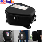 Black Nonslip Motorcycle Tank Bag Phone Pocket Backpack Case w/ Rain Cover USA