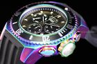 Invicta Men 52mm Russian Diver Reserve Swiss Chrono Black Dial Iridescent Watch