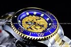 New Invicta Men's 47mm Grand Diver Dragon Automatic Two Tone Blue Gold SS Watch