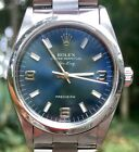 ROLEX Oyster Perpetual Air-King 14000 Stainless Steel 34mm Men's Watch Blue Dial