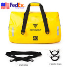 Yellow ATV Motorcycle Tail Bag Rear Helmet Luggage Pack 40L Waterproof USA Ship