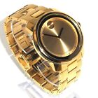 MOVADO $795 BIG GOLD STAINLESS STEEL BOLD SWISS WATCH 3600258 - EXCELLENT!