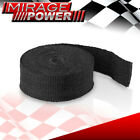 30Ft Exhaust Header Turbo Manifold Insulation Heat Wrap Cover + Stainless Ties