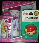 DISNEY PRINCESS AIR-VAL BODY SPRAY GIFT SET LIP SMACKER LIP GLOSS