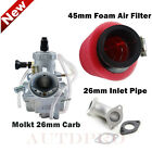 26mm Molkt Carburetor Carb Intake Pipe Air Filter F Lifan YX 125 150cc Dirt Bike
