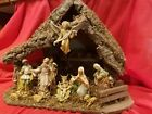HUGE 17 TALL 1950s FONTANINI Depose NATIVITY SET ITALY VERY LARGE CRECHE 13pc