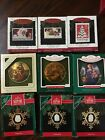 Lot Of 9 Hallmark Ornaments Art Masterpiece Us Christmas Stamps Great Story.