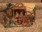 Vintage Pop up Paper Creche Nativity Scene Printed In W Germany