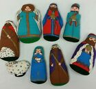 Christmas Nativity Set For Kids Soft Plush Fabric Pillow Vintage Toy Doll Creche