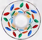 Murano Glass Crystal Candy Bowl Colorful Tree of Life Design Made In Italy