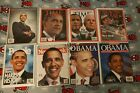 OBAMA 8 Magazine Lot Commemorative Issues No Label Bag and Boarded
