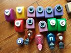 LOT OF 16 Scrapbook Paper Punches Diecut and miscellaneous stamps