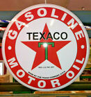 NEW 17'' Texaco Red T Star  Domed Metal Sign, Garage, Man Cave, Bar Decor Gift