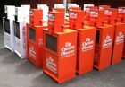 NEWSPAPER MACHINES CUSTOM PAINTED YOUR COLOR CHOICE LOT OF 6