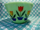 Jadeite Green Glass Dutch Tulip Splash Proof Bowl 7 1/2