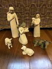 DEMDACO Willow Tree 26005 Nativity Hand Painted Sculpted Figures EXC Used Cond