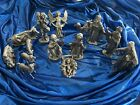 15 Piece Pewter 4 Nativity Set