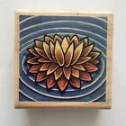 Stampabilities LILY AFLOAT Rubber Stamp Pond Water Garden Botanical Art Wood Mtd