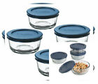 Anchor Hocking Classic Glass Food Storage Containers with 1 Cup (Set of 4)