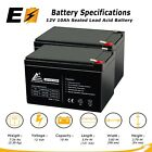 ExpertBattery 2pk 12V 10Ah Replacement Battery for Pride Mobility GoGo Scooter