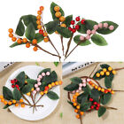 Decoration Cherry Fake Berry Holly Berries Artificial Leaves Artificial Flower