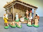 Vintage SEARS TRIM SHOP 11 Piece Nativity Set  WITH BOX No 71 97169