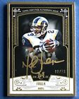 2015 Topps Museum Collection Framed Marshall Faulk Gold Auto # 10 SP, Rams RB!