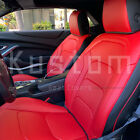 Custom Fit Red Black Interior Leather Seat Covers For 16 Up Chevrolet Camaro