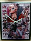 Harley Quinn Wood Wall Clocks And Frame Clocks