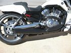 Black Fat Cat 2 1 Exhaust Wrap Louvered Baffle 2006 Harley Screaming VROD