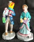 Lemax OUT SHOPPING Christmas Village Accessory 2pc man & woman presents gifts