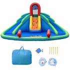 Inflatable Bounce House Water Park w Splash Pool Dual Slides Climbing Wall