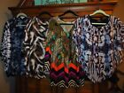 Womens One World Fall Tops Blouses Lot of 4 Size Medium  Large