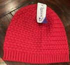 NWT IGLOOS Women's Red Beanie Knit Hat Cap One Size Fits Most  ski snow winter