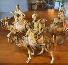 Vintage Christmas Fontanini Nativity 3 Kings Wisemen on Camels Made In Italy